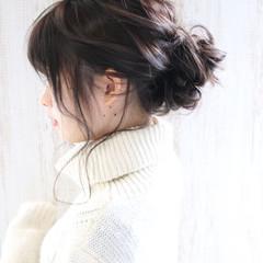大人かわいい 透明感 ヘアアレンジ 簡単ヘアアレンジ ヘアスタイルや髪型の写真・画像