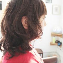 ゆるふわ 大人女子 セミロング グレージュ ヘアスタイルや髪型の写真・画像