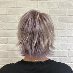 ブリーチ パープルカラー ストリート パープル ヘアスタイルや髪型の写真・画像