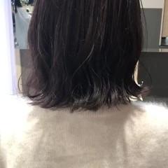 ナチュラル 鎖骨ミディアム 切りっぱなしボブ ロブ ヘアスタイルや髪型の写真・画像