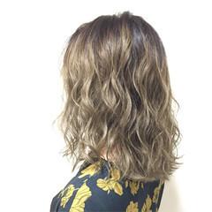 グラデーションカラー ガーリー ミディアム ハイライト ヘアスタイルや髪型の写真・画像