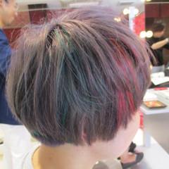 ダブルカラー ストリート イルミナカラー ボブ ヘアスタイルや髪型の写真・画像