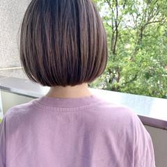 ナチュラル ボブ 髪質改善 ミニボブ ヘアスタイルや髪型の写真・画像