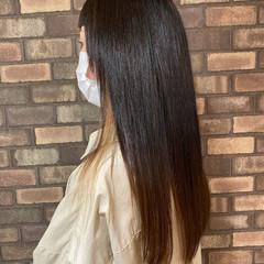 縮毛矯正 透明感 ブリーチ インナーカラー ヘアスタイルや髪型の写真・画像