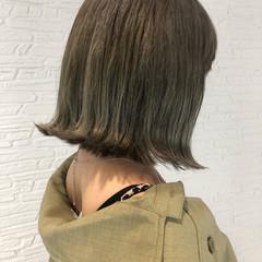 シアーベージュ グレージュ フェミニン ミルクティーベージュ ヘアスタイルや髪型の写真・画像