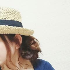ロング 簡単ヘアアレンジ ショート フェミニン ヘアスタイルや髪型の写真・画像