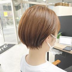 小顔ショート ショート ショートヘア ベージュ ヘアスタイルや髪型の写真・画像