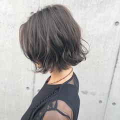 ストリート 切りっぱなしボブ デート ボブ ヘアスタイルや髪型の写真・画像