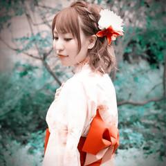 夏 ショート 花火大会 ヘアアレンジ ヘアスタイルや髪型の写真・画像