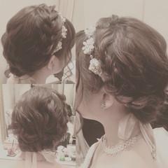 ヘアアレンジ ブライダル カチューシャ ボブ ヘアスタイルや髪型の写真・画像