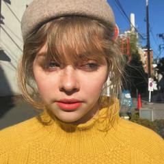 ガーリー 簡単ヘアアレンジ アンニュイほつれヘア セミロング ヘアスタイルや髪型の写真・画像