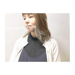 フェミニン ミディアム 女子力 エフォートレス ヘアスタイルや髪型の写真・画像