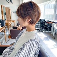 小顔ショート ナチュラル 透明感カラー ベリーショート ヘアスタイルや髪型の写真・画像