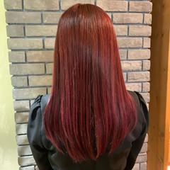 アンニュイほつれヘア ピンク デート ベリーピンク ヘアスタイルや髪型の写真・画像