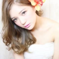 ヘアアレンジ ロング 外国人風 ナチュラル ヘアスタイルや髪型の写真・画像