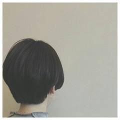 ナチュラル 暗髪 ショート ボブ ヘアスタイルや髪型の写真・画像