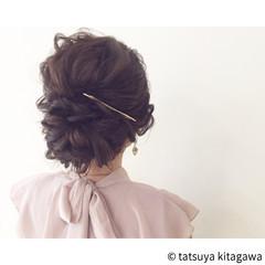 ゆるふわ エレガント 二次会 上品 ヘアスタイルや髪型の写真・画像