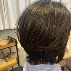 ナチュラル ボブ レイヤーボブ ヘアスタイルや髪型の写真・画像