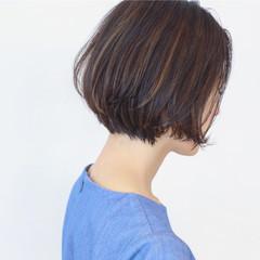 外国人風 ショートボブ 大人女子 ショート ヘアスタイルや髪型の写真・画像