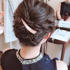 謝恩会 デート セミロング 結婚式 ヘアスタイルや髪型の写真・画像