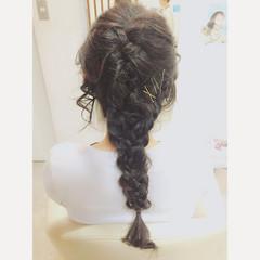 ショート 簡単ヘアアレンジ ロング フェミニン ヘアスタイルや髪型の写真・画像