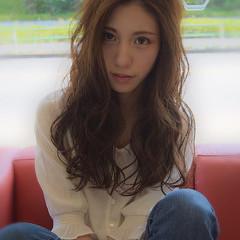 アンニュイ 大人女子 ロング フェミニン ヘアスタイルや髪型の写真・画像