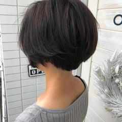 似合わせ デジタルパーマ 小顔 ショートボブ ヘアスタイルや髪型の写真・画像