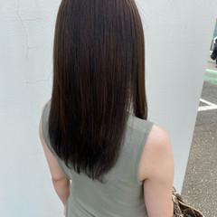 ハイライト ロング ベージュ マットグレージュ ヘアスタイルや髪型の写真・画像