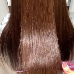 ナチュラル 艶髪 トリートメント 艶カラー ヘアスタイルや髪型の写真・画像