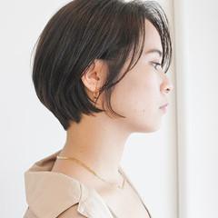ショートカット グレージュ ショートヘア ショート ヘアスタイルや髪型の写真・画像