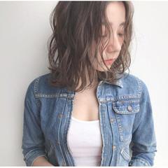 ハイライト ストリート ラベンダーグレー アンニュイほつれヘア ヘアスタイルや髪型の写真・画像