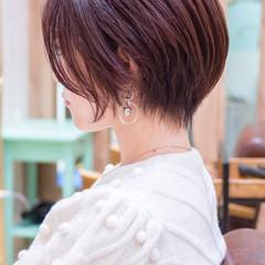 ショート ショートボブ 小顔ショート ハンサムショート ヘアスタイルや髪型の写真・画像