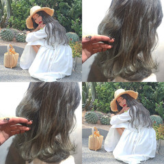 簡単ヘアアレンジ ナチュラル オフィス アンニュイほつれヘア ヘアスタイルや髪型の写真・画像