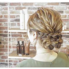 ブライダル ヘアアレンジ セミロング 結婚式ヘアアレンジ ヘアスタイルや髪型の写真・画像