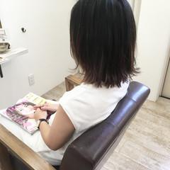 大人女子 ナチュラル ボブ ハイライト ヘアスタイルや髪型の写真・画像