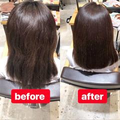 オフィス ロング 髪質改善トリートメント サイエンスアクア ヘアスタイルや髪型の写真・画像