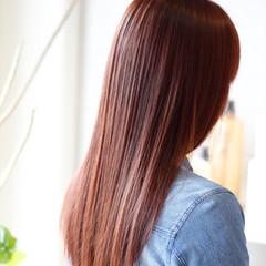 ピンク ガーリー ピンクアッシュ ストレート ヘアスタイルや髪型の写真・画像