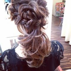 セミロング ヘアアレンジ パーティ 結婚式 ヘアスタイルや髪型の写真・画像