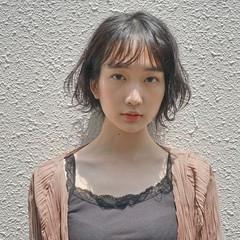 フェミニン 抜け感 ショートボブ 小顔 ヘアスタイルや髪型の写真・画像