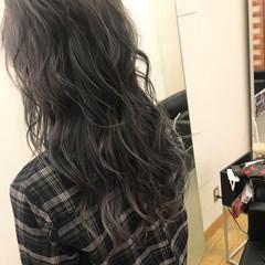 女子力 透明感 セミロング ブリーチ ヘアスタイルや髪型の写真・画像