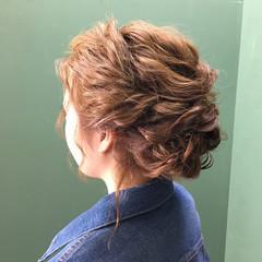 ミディアム ヘアアレンジ エレガント 和装 ヘアスタイルや髪型の写真・画像