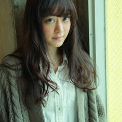 ロング ゆるふわ 外国人風 ガーリー ヘアスタイルや髪型の写真・画像