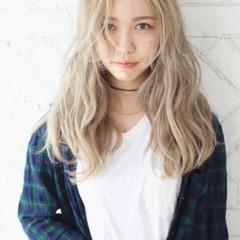 ハイトーン ストリート ハイライト 金髪 ヘアスタイルや髪型の写真・画像