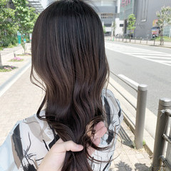 ハイライト ストリート コントラストハイライト セミロング ヘアスタイルや髪型の写真・画像