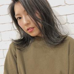 外国人風 イルミナカラー ストリート ミディアム ヘアスタイルや髪型の写真・画像