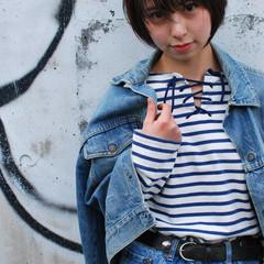 ショート 春 ナチュラル 外国人風 ヘアスタイルや髪型の写真・画像