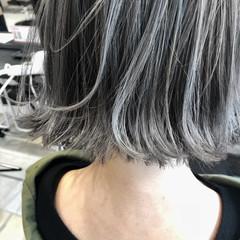 透明感 ボブ 外国人風 ハイライト ヘアスタイルや髪型の写真・画像