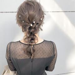 簡単ヘアアレンジ 結婚式 ヘアアレンジ ナチュラル ヘアスタイルや髪型の写真・画像