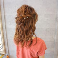 色気 ヘアアレンジ セミロング 女子会 ヘアスタイルや髪型の写真・画像