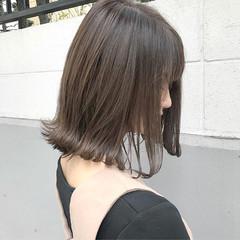 アッシュ ミディアム こなれ感 モード ヘアスタイルや髪型の写真・画像